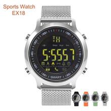 EX18 Luminous Dial Pedometer Bluetooth Fitness Sport Smart Watch