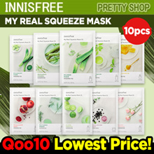 ★QOO10 LOWEST PRICE★ [INNISFREE] MY REAL SQUEEZE MASK 10PCS