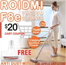 $20 OFFWeekend Sale *FREE ANTI DUST MITE Xiaomi Roidmi F8e handheld cordless vacuum cleaner
