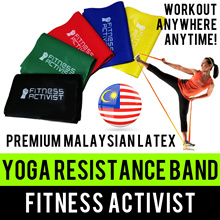⏰💪★★Premium Malaysian Latex★★Yoga Bands★★Resistance Bands★★Stretching Elastic Fitness Exercise★★