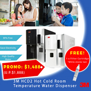 【3M】HCD2 Hot Cold Room Temperature Water Dispenser - BPA Free / Reduce Chlorine / Save Electricity
