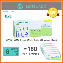 [Free Shipping] BAUSCH LOMB Biotrue  Bio True ONEday lenses (30pcs/box) x6