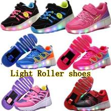 Hadiah Terbaik ♥ Roller Shoes ♥ roda ♥ sepatu skating ♥ sepatu anak-anak dengan roda ♥ Sneakers ♥ Girls ♥ Boys ♥ mainan ringan