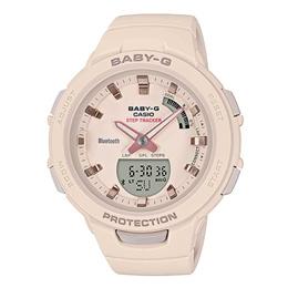 BABY-G DIGITAL QUARTZ BEIGE RESIN G-SQUAD BSA-B100-4A1DR WOMEN S WATCH
