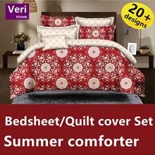 ★Single/Super/Queen/King★【Bedsheet/Quilt cover Set][Summer comforter]