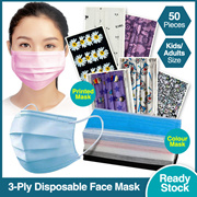 50PCS!Grand Sales! LOWEST!!!3PLY Protective Disposable Mask for Adult/Kids adult face mask