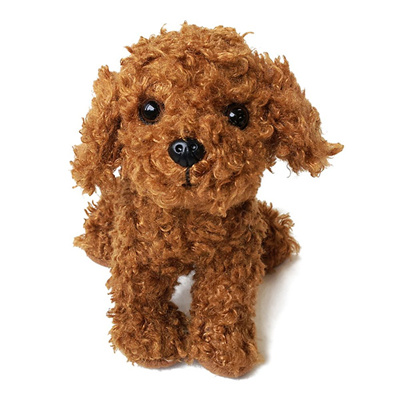 Premium Puppy Stuffed Toy Poodle Red