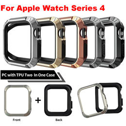 New Fashion Watch Protect Case for Apple Watch Case Series 4 for iWatch 40/44mm PC with TPU Two