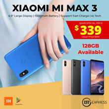 [New] Xiaomi Mi Max 3 | 3 Color both 64/128GB available.