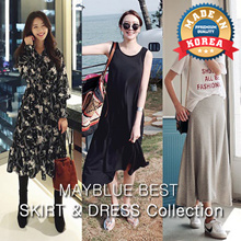 ♥ New Arrival [KOREA NO.1 Mayblue] FREE SHIPPING♥ 9TYPE BEST SKIRT  DRESS Collection