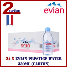 [CARTON DEAL] 24 x POKKA Evian Prestige Water 330ml