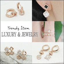 ✨ 18th Mar Update ✨Trendy Korean Style Earring / Ring - Trendy Latest Designs for Ladies/ Luxury Jew