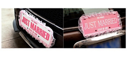 Just Married Card plate for wedding car decoration
