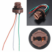 2x Pre-wired Sockets Plugs Harness Connector Brake Turn Signal Light For Standard T20 7440 7443 Brak