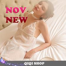 [QIQI SHOP]Christmas gift/Sexy  Lingerie/Night pajama/dress Lace Sleepwear Corsets