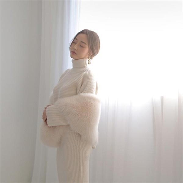 セジュウィク栗見ドレスセットnew / 体型カバーになる / 秋ワンピース / ニット・ワンピース / 韓国ファッション妊婦服 /