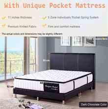 QUEEN SIZE DARK BROWN BED FRAME AND MATTRESS  * MATTRESS OPTIONS * FREE DELIVERY