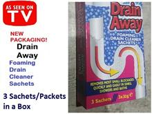 Drain Away-Foaming Drain Cleaner Sachets (seen on TV)