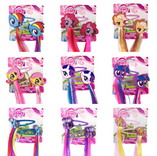 ☆ 10 Designs ☆ My Little Pony Hair Extension Hair Clips Accessories 1 Pair
