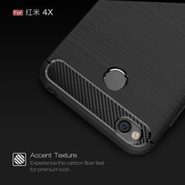 Xiaomi Redmi 4X 4 X Carbon Fiber Cover TPU Case Xiaomi Redmi X4 Red mi 4X