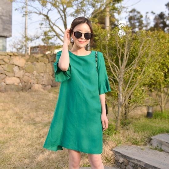 悪女日記】テディドゥイッリボンワンピース 綿ワンピース/ 韓国ファッション