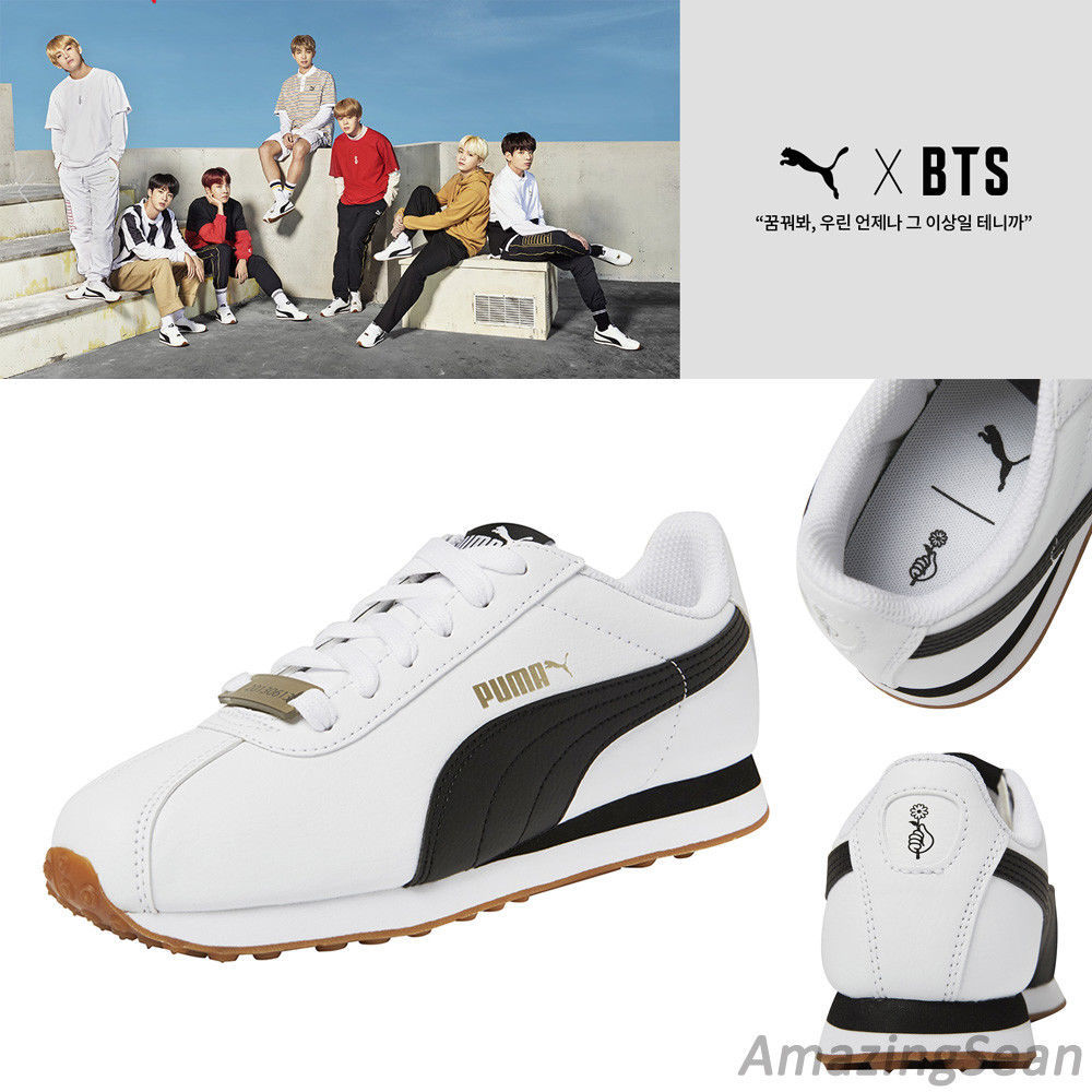 [PUMA]BTS Official Goods - PUMA X BTS TURIN Shoes + Photo Card BANGTAN BOYS  Sneakers. NEW BTS SHOES