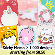 STICKY NOTE STICKY MEMO STICKERS STATIONERY GOODIE BAG TEACHERS DAY CHILDREN DAY GIFT CHRISTMAS