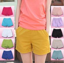 Cotton Linen Denim Jeans Women Shorts Checkered Sport Short