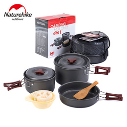 Naturehike 2-3 People Camping Cooking Set NH15T203-G / Cookware / Portable / Pots / Pans
