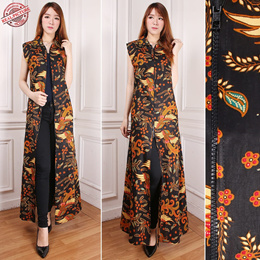 BEST SELLER Gamis Maxi Dress Margaretha Longdress Sleeveless Batik Wanita