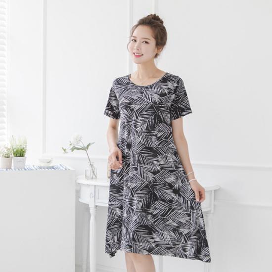 マダム4060ママの服木の葉ナヨムワンピースXOP707015 スーツワンピース/ 韓国ファッション