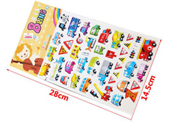 Wholesale price Children Art Craft Activity Cute Cartoon Large  Puffy Foam Stickers / Party Goodie Bag / Reusable Collection Animal Alphabet Numbers Dress-up