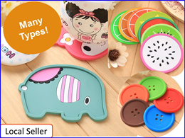 2pcs or 3pcs Coffee Cup Coaster Placemat* Tea Cup Mat Pad* Heat resistent silicone Wood coaster