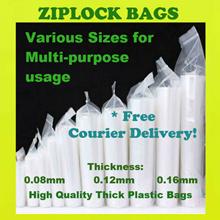 Ziplock Bags /Resealable Plastic Zipper Bag/Thick Quality Multi-purpose Zip Lock Bags/15 size