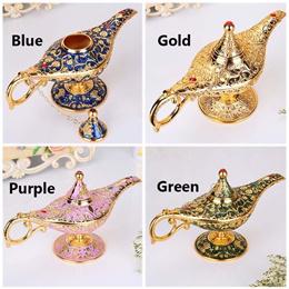 Vintage Aladdin Lamp Wishing Tea Oil Pot Decoration Collection Arts Decoration Crafts Birthday Chris