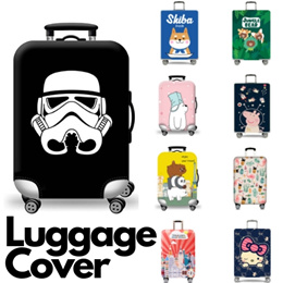 Travel Lights Black Portrait Night Minimalism Red Suitcase Protector Zip Luggage Cover Elastic Fits 26-28 Inch