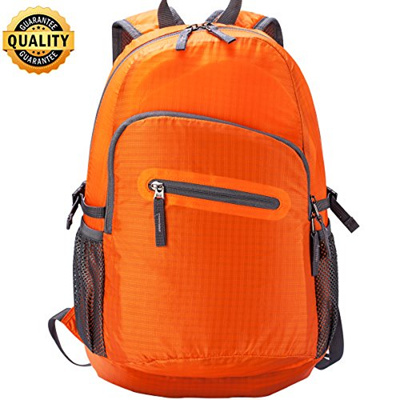 7e4357db73f8 Wot i Hiking Backpack, Fold UP Back Pack, Small Waterproof Backpack, Hiking  Bookbags for Travel Cola