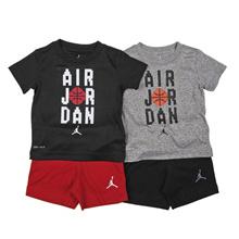 [OFFICIAL KOREA AK PLAZA][Nike Jordan Kids] [12M-24M] Pixel short pants set (NNM18QST14)