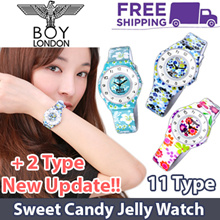 ♥100% GENUINE♥ [BOY LONDON] 11 Type Premium Casual Watch / Sweet Candy Jelly Watch Collection