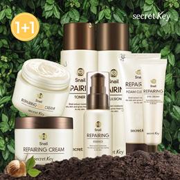 【Secret Key HQ Direct Operation】 Snail Repairing Skincare 1+1★Toner/Essence/Emulsion/Cream/EyeCream