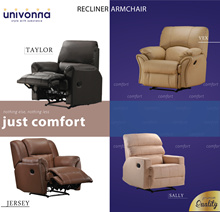 Recliner Armchair Collection * Local Made * Color Choice * Free Delivery and Installation