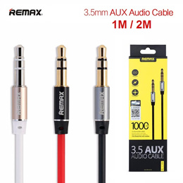Remax 3.5mm AUX Cable Line 1M / 2M Male to Male Speaker Car Stereo Audio Song Smartphones Tablet Mp3