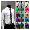 ** 3 In 1 Shipping ** 17 Colors ** T009439 Korean Men´s Casual Fashion Solid Candy Stylish Colored Shirt