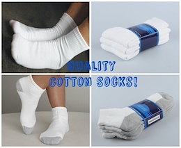 Quality Thick Cotton Socks!! Long / Ankle Socks!!3 Pairs per pack!!!White / Black / Grey / DarkBlue
