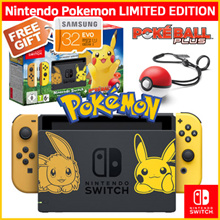 [Limited Edition] 1 Year Warranty!! Pokemon Nintendo Switch Console System Bundle Pokemon Lets Game