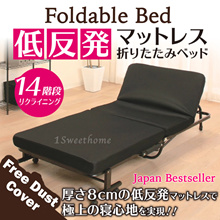 ★Japanese Modern Folding Bed With Mattress★ Single bed/foldable bed/ Portable Single Bed Frame