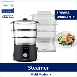 PHILIPS HD9125/91 | HD9150/91 Collection 3-Tier Food Steamer |Digital /Manual timer include Egg rack