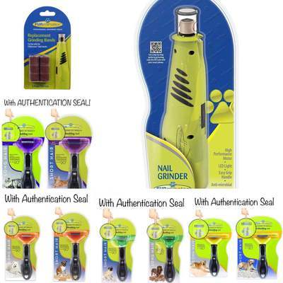 100% Authentic Furminator for Dogs and Cats Deshedding Brush Comb Deshed  Dematting Nail Grinder 82b03799db