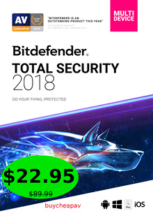 Bitdefender Total Security 2018 (1 Year 3 Devices) Product Key Only -75% off- by Bitdefender partner