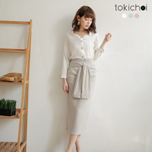 TOKICHOI- Elegant Buttoned Long Sleeves Blouse Top-182641